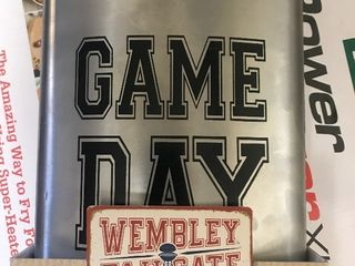 large game day flask stainless steel very unique fun gig gift