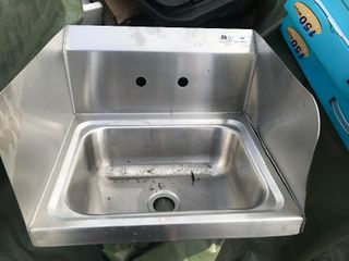 Stainless steel hand sink as pictured