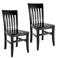 Slat-back Dining Chairs (Set of 2)- Retail:$77.48 black