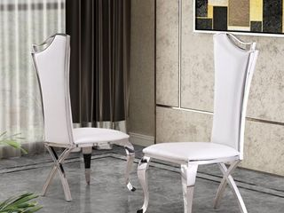 Best Quality Furniture Luxe Upholstered Dining Accent Chairs (Set of 2)- Retail:$635.99