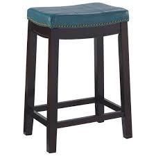 Copper Grove Willamette Blue Nailhead Trim Counter Stool blue