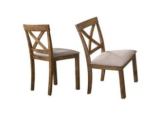 Best Master Furniture Driftwood 2 Pieces Dining Side Chairs- Retail:$179.99