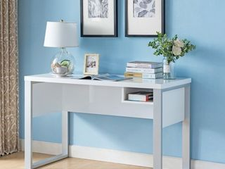 Furniture of America Gish Modern White 47-inch 1-shelf Writing Desk- Retail:$302.49