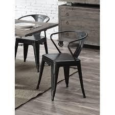 Carbon Loft Uglem Industrial Dining Chair (Set of 2)- Retail:$110.49 grey