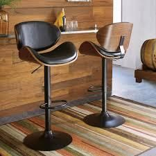 Strick & Bolton Harley Adjustable Height Matte Black Bar Stool- Retail:$115.99