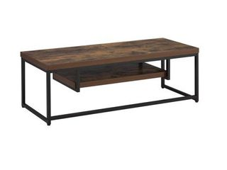 "ACME Bob Weathered Oak and Black TV Stand for up to 60"" Flat TV"