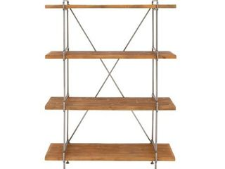 Industrial 4-Tier Fir Wood and Iron Shelf by Studio 350- Retail:$279.99