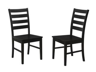Walker Edison Modern Ladder Back Dining Chair - Set of 2