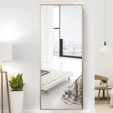 Modern Aluminum Alloy Thin Framed Full Length Floor Mirror- Retail:$323.99
