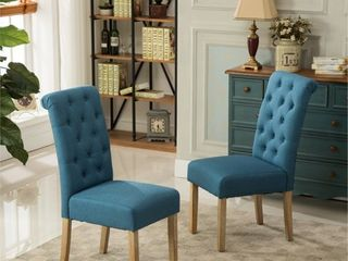 Copper Grove Schwalbach Upholstered Parsons Dining Chairs (Set of 2)- Retail:$151.99