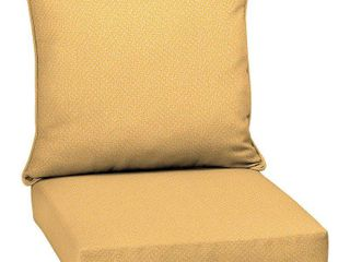 Shirt Texture Deep Seat Outdoor Cushion Set Yellow - Arden Selections