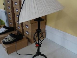 Metal table lamp w  shade