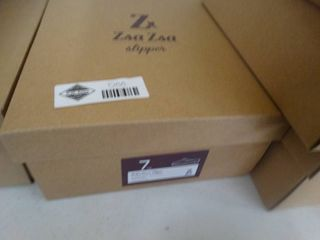 New pair ZsaZsa slippers  Silver White Win Steen slipper  size 7  New in box