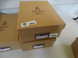 2 New pairs ZsaZsa slippers  Silver White Win Steen slipper  size 10  New in box
