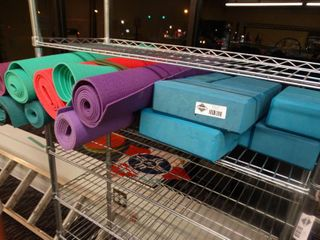 lot of exercise mats   misc