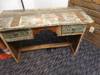 Antique writing desk w  drawers