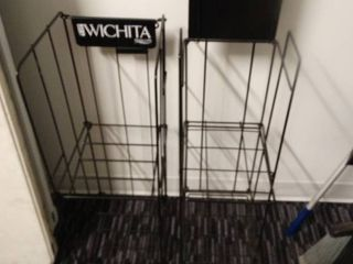 2 metal folding advertising racks