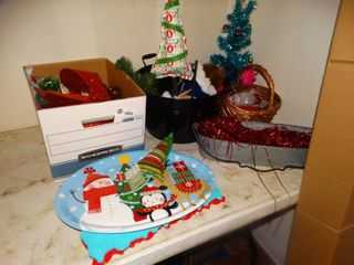 lot of Christmas items decor