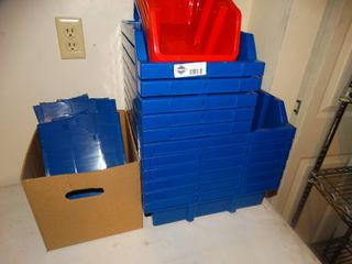lot of plastic organizers
