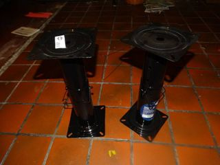 2 new adjustable pedestals for boat seats
