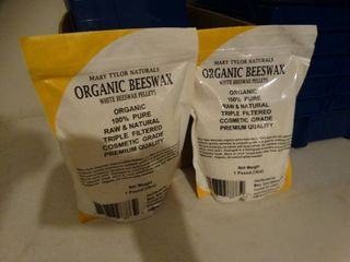 2 new packages of organic beeswax