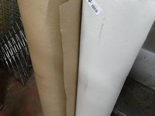 2 partial rolls of cardboard material