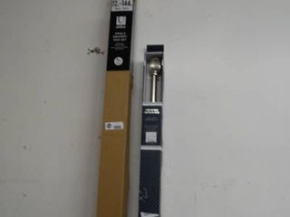 New adjustable shower rod   new single drapery rod set