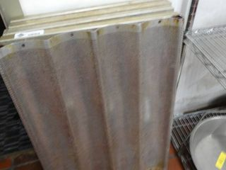 lot of assorted oven bread racks