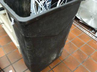 large trashcan w  hangers