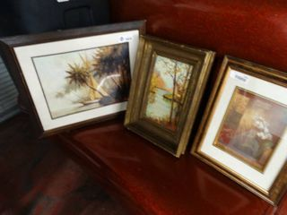 lot of assorted framed artwork