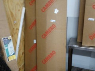 2 Brand new cambro 5 ft sneeze guard panels  new in boxes