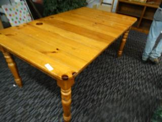 Awesome vintage maple solid wood table w drawer on one side  Ethan Allen brand