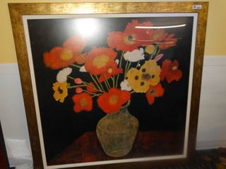 HUGE Poppy Bouquet framed wall art