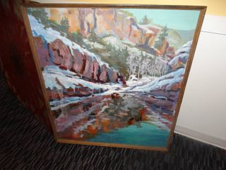 large painting  signed by artist