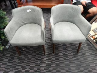Pair of padded chairs