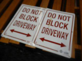 2 metal driveway signs
