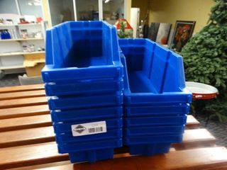 lot of blue plastic organizers