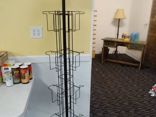 Metal retail spinner rack for books magazines