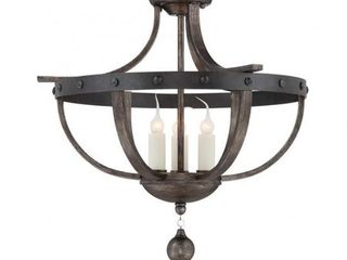 Savoy House Alsace 3 Light Semi Flush in Reclaimed Wood