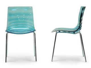 Baxton Studio Marisse Plastic Modern Dining Chairs (Set of 2)- Retail:$224.99