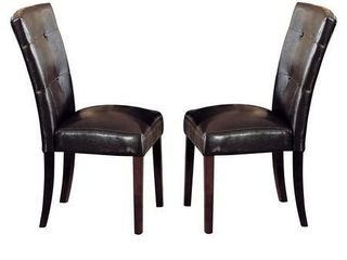 Acme Furniture Danville Espresso PU Upholstery Walnut Wood Legs Dining Chairs (Set of 2) - Retail:$149.00