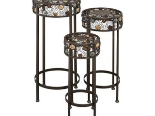 Set of 3 Modern 20, 24, and 28 Inch Iron Plant Stands by Studio 350- Retail:$102.64