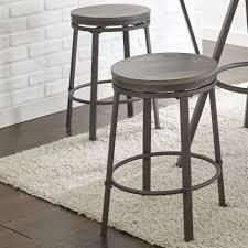 Perry Grey Counter Height Swivel Stool by Greyson Living (Set of 2)- Retail:$139.99 black grey