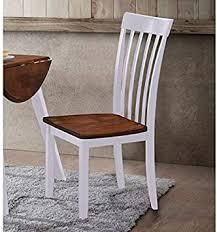 hommex furniture slate back dining chairs set of 2 white and oak
