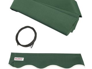 ALEKO 12'x10' Retractable Awning Fabric Replacement, Green Color