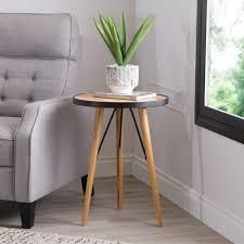 abbyson murray mid century wood end table sunset color