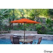 Aluminum Patio Market Umbrella Tilt with Champagne Pole- Retail:$93.49 orange