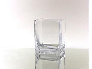 2-inch x 8-inch x 10-inch Clear Block Vase