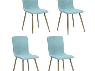 Carson Carrington Viken Mid-century Upholstered Dining Chairs (Set of 4)- Retail:$324.49 cyan