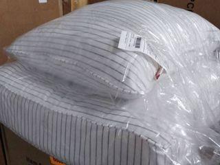 sunbrella patio cushion grey and white striped